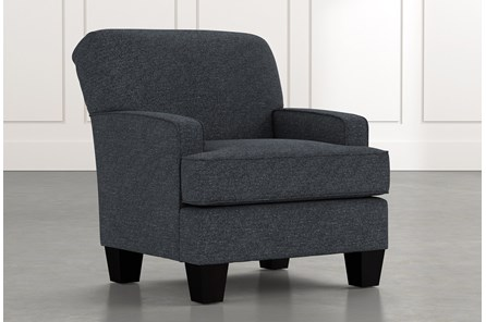 Burke Black Accent Chair