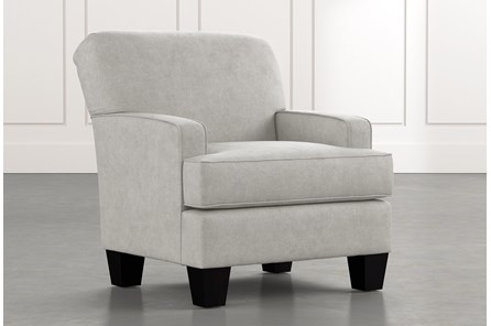 Burke Light Grey Accent Chair