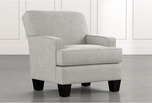 Burke Light Grey Accent Chair - 360