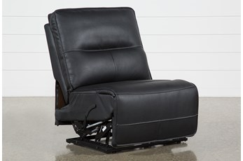 Marcus Black Armless Recliner