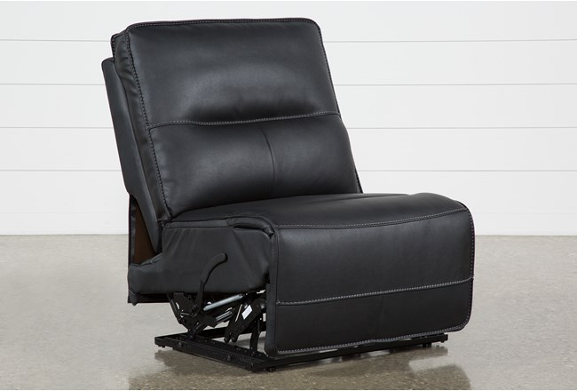 Marcus Black Armless Recliner - 360