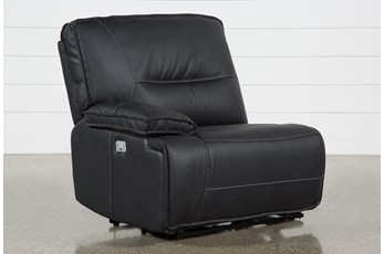 Marcus Black Left Facing Power Recliner W/Power Headrest & Usb