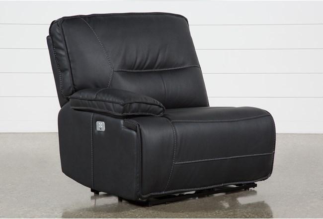 Marcus Black Left Facing Power Recliner W/Power Headrest & Usb - 360