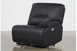 Marcus Black Right Facing Power Recliner W/Power Headrest & Usb