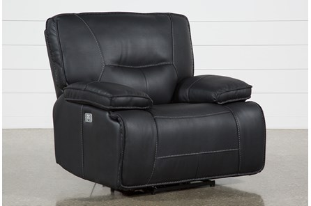 Marcus Black Power Recliner With Power Headrest & Usb