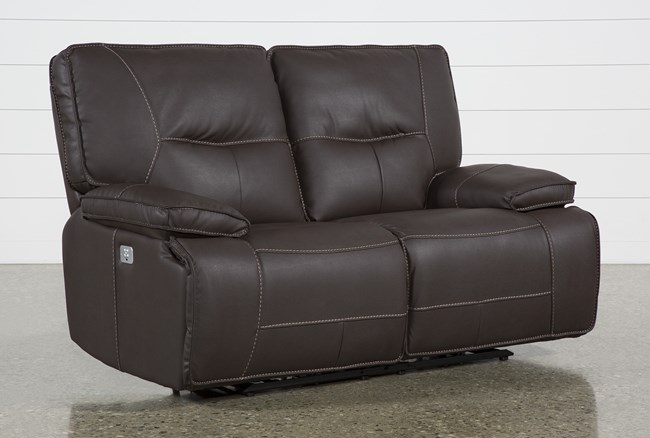 Marcus Chocolate Power Recliing Loveseat W/Pwr Headrest & Usb - 360