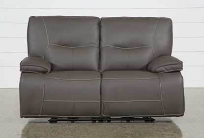 Magnificent Marcus Grey Power Reclining Loveseat W Pwr Headrest Usb Inzonedesignstudio Interior Chair Design Inzonedesignstudiocom