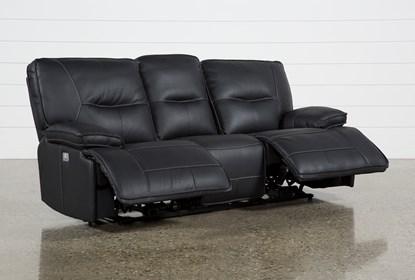 Prime Marcus Black Power Reclining Sofa W Pwr Headrest Usb Machost Co Dining Chair Design Ideas Machostcouk