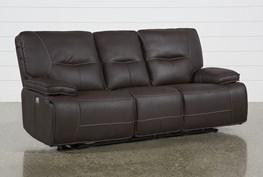 Marcus Chocolate Power Recliing Sofa W/Pwr Headrest & Usb