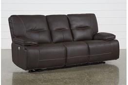 Marcus Chocolate Power Reclining Sofa W/Power Headrest & Usb