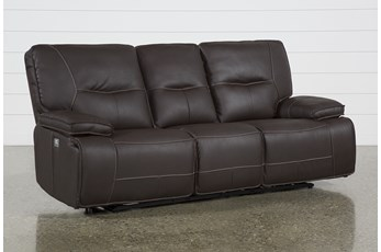 Marcus Chocolate Power Reclining Sofa W/Power Headrest & Usb