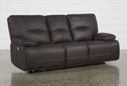 Marcus Chocolate Power Recliing Sofa W/Pwr Headrest & Usb