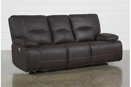 Marcus Chocolate Power Reclining Sofa W/Power Headrest & Usb - Main
