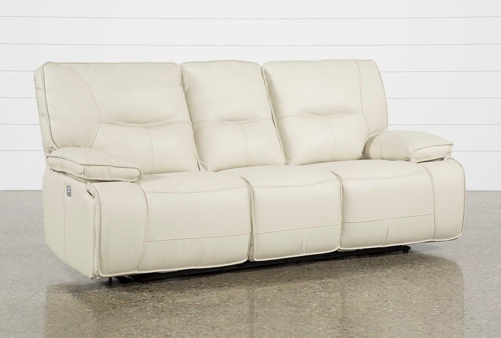 Marcus Oyster Power Reclining Sofa W/Power Headrest & Usb