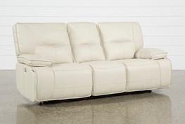 Marcus Oyster Power Reclining Sofa W/Pwr Headrest & Usb