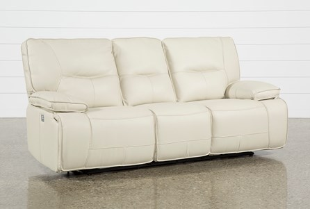 Marcus Oyster Power Reclining Sofa W/Pwr Headrest & Usb
