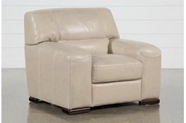 Grandin Wheat Leather Chair