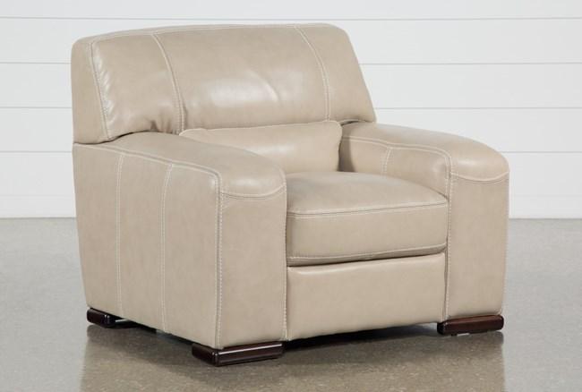 Grandin Wheat Leather Chair - 360