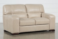 "Grandin Wheat Leather 67"" Loveseat"