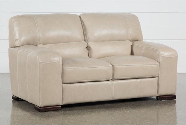 Grandin Wheat Leather Loveseat - 360