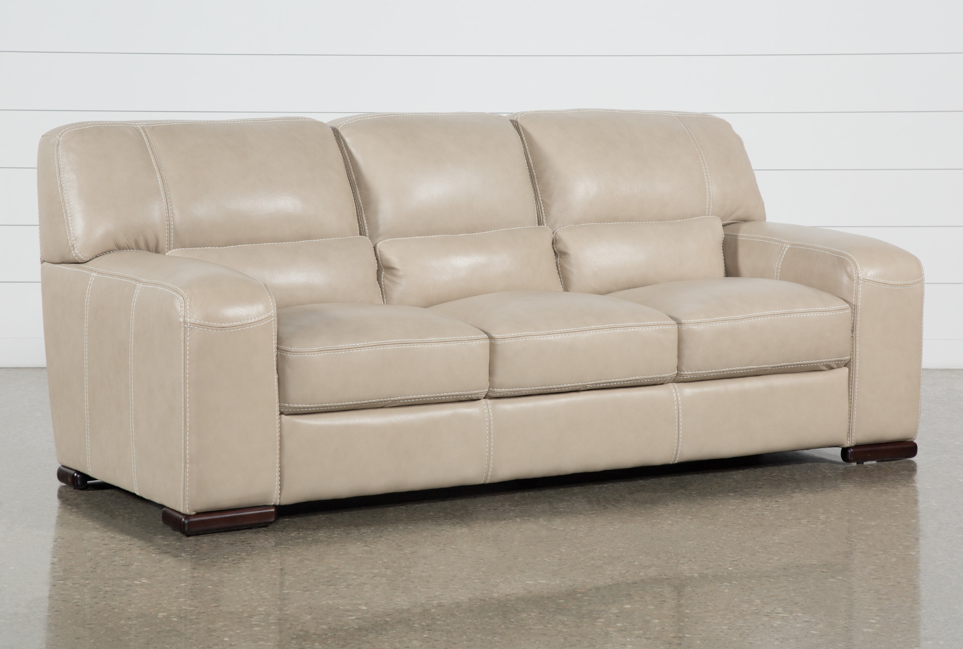 Picture of: Grandin Wheat Leather 90 Sofa Living Spaces