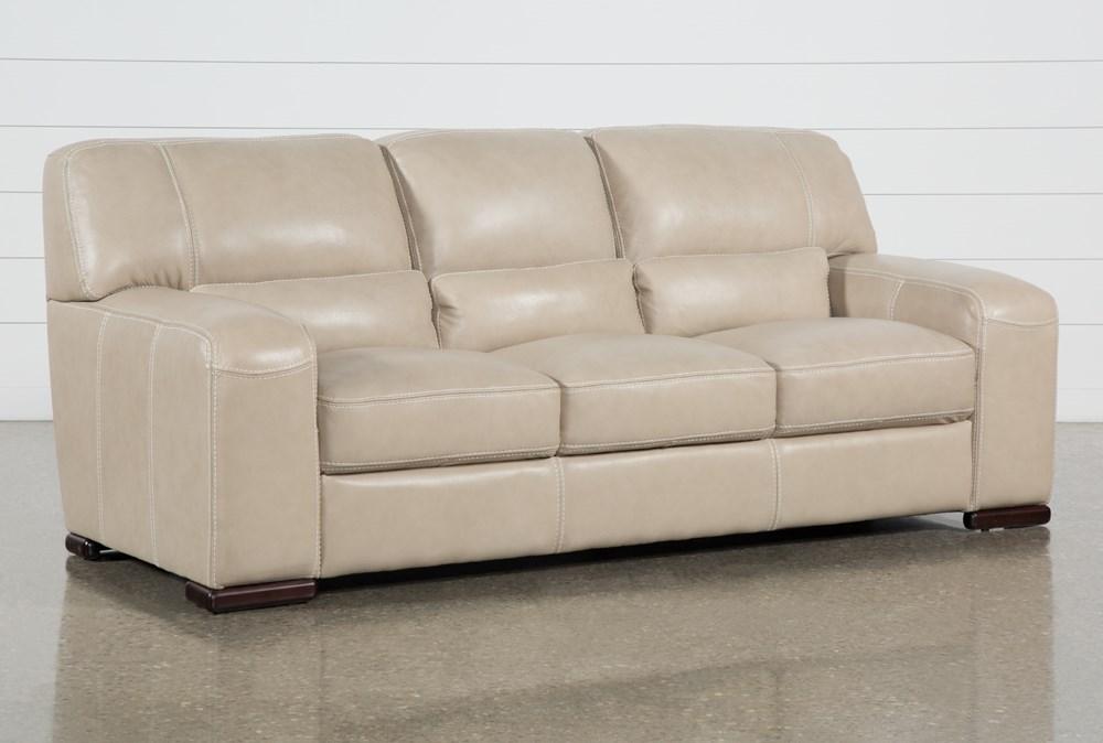 Grandin Wheat Leather Sofa