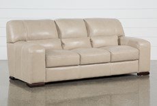 "Grandin Wheat Leather 90"" Sofa"