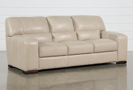 "Grandin Wheat Leather 90"" Sofa"