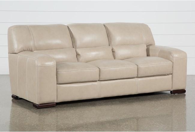 Grandin Wheat Leather Sofa - 360