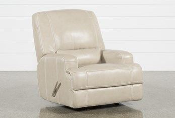 Grandin Wheat Leather Glider Recliner