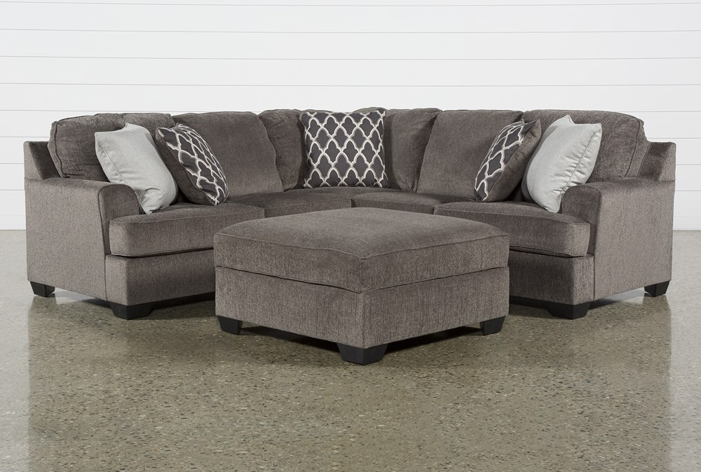 Devonwood 2 Piece Sectional with Left Arm Facing Loveseat and Ottoman