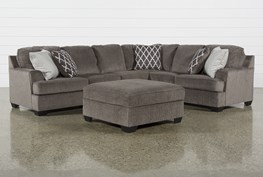 Devonwood 3 Piece Sectional with Left Arm Facing Loveseat and Ottoman