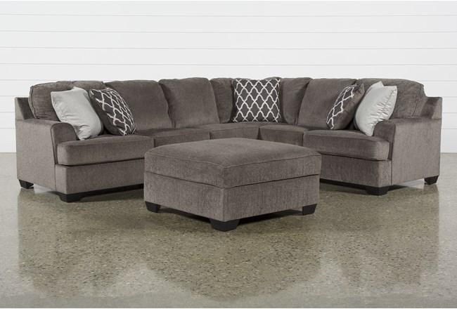 Devonwood 3 Piece Sectional W/ Laf Loveseat and Ottoman - 360