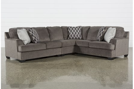 Devonwood 3 Piece Sectional with Left Arm Facing Loveseat