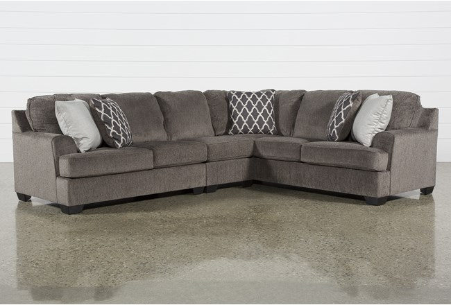 Devonwood 3 Piece Sectional with Left Arm Facing Loveseat - 360