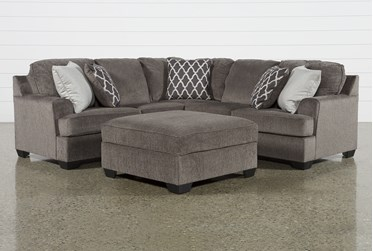 Devonwood 2 Piece Sectional with Right Arm Facing Loveseat and Ottoman