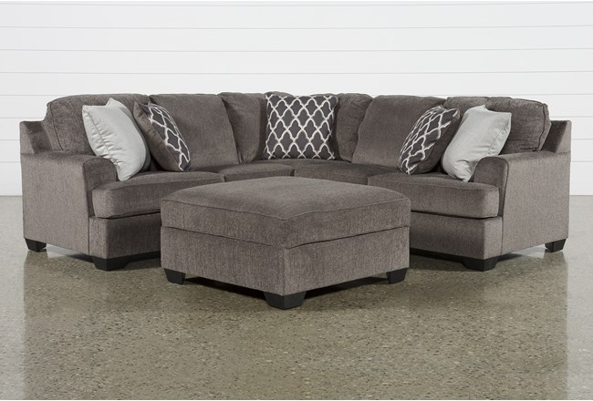 Devonwood 2 Piece Sectional with Right Arm Facing Loveseat and Ottoman - 360