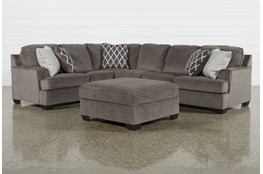 Devonwood 3 Piece Sectional with Right Arm Facing Loveseat and Ottoman