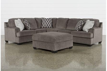 Devonwood 3 Piece Sectional W/ Raf Sofa and Ottoman