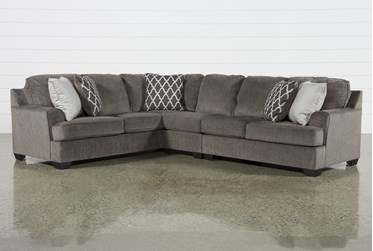 """Devonwood 3 Piece 128"""" Sectional with Right Arm Facing Loveseat"""