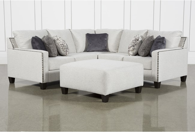 Chappell 2 Piece Sectional With Left Arm Facing Loveseat and Ottoman - 360