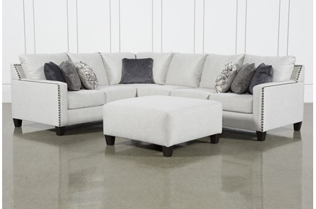 Chappell 3 Piece Sectional With LAF Sofa and Ottoman