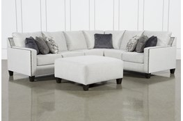Chappell 3 Piece Sectional With Left Arm Facing Loveseat and Ottoman