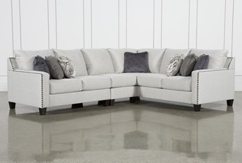 """Chappell 3 Piece 117"""" Sectional With Left Arm Facing Loveseat"""
