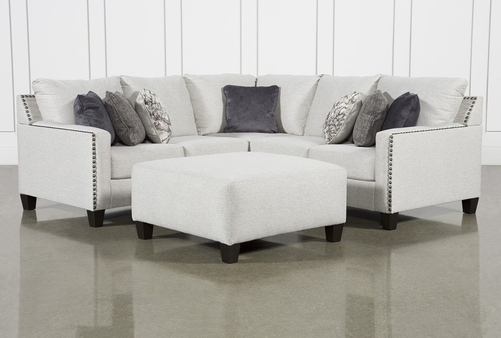 Chappell 2 Piece Sectional W/ Right Arm Facing Loveseat and Ottoman