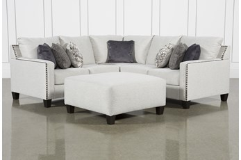 Chappell 2 Piece Sectional With Right Arm Facing Loveseat and Ottoman
