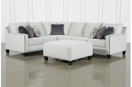 Chappell 3 Piece Sectional With Right Arm Facing Loveseat and Ottoman