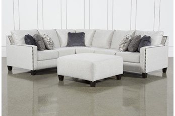 Chappell 3 Piece Sectional W/ Right Arm Facing Loveseat and Ottoman