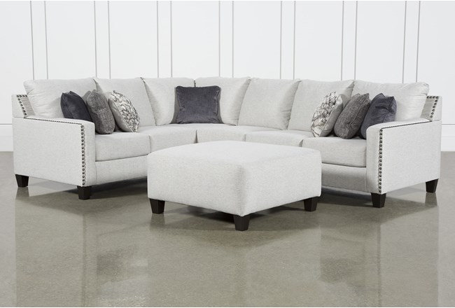 Chappell 3 Piece Sectional W/ Right Arm Facing Loveseat and Ottoman - 360