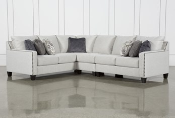 """Chappell 3 Piece 117"""" Sectional with Right Arm Facing Loveseat"""